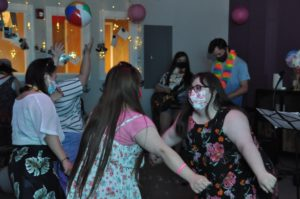 People with Down syndrome dancing at GiGi's Playhouse Annapolis