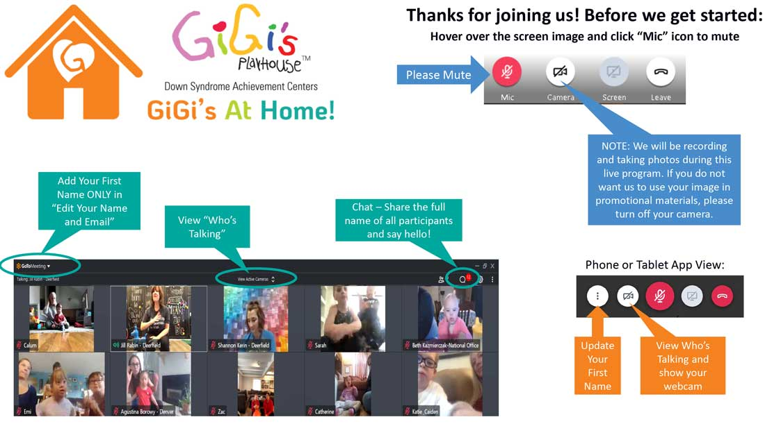 how to access GiGi's at home
